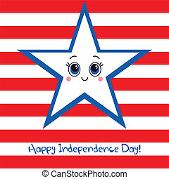 Happy Independence Day USA Greeting card.