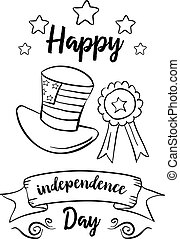 Happy independence day vector illustration