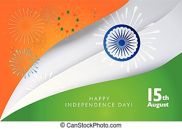 Happy India Independence Day greeting card