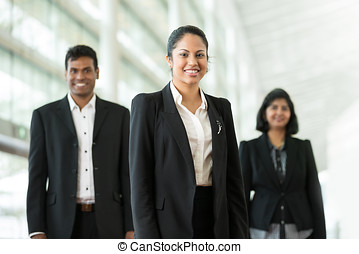 Happy Indian business team.