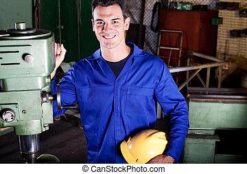 happy industrial craftsman portrait