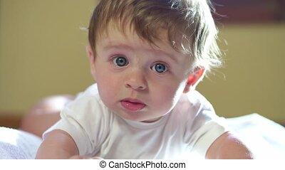 Happy Infant Baby Newborn Child