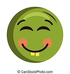 Happy injured emoji icon