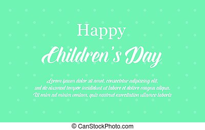 Happy international children day banner style