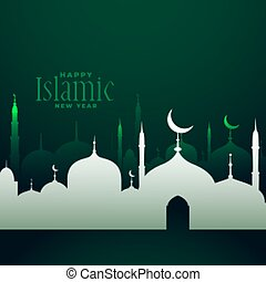 happy islamic new year traditional festival background