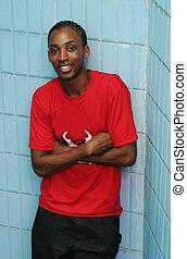 Happy Jamaican man smiling