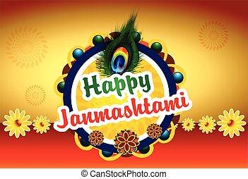 Happy Janmashtami background
