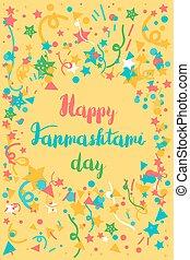 Happy Janmashtami Day Banner - Happy Janmashtami Day...