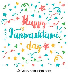 Happy Janmashtami Day Banner