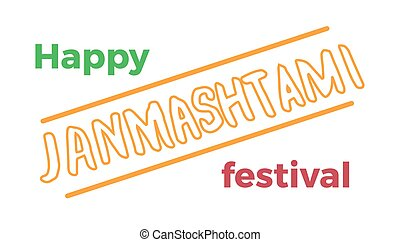 Happy Janmashtami. Indian fest. Dahi handi on Janmashtami,...