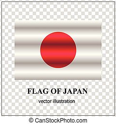 Happy Japan day banner. Bright button with flag of Japan. Vector.