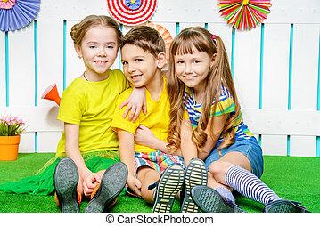 happy joyful children