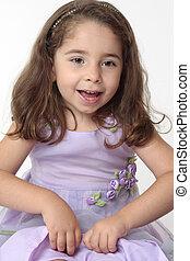Happy joyous young girl playing