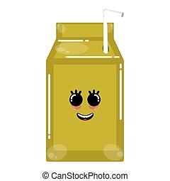 Happy juice box - Cartoon icon of a happy juice box - Vector