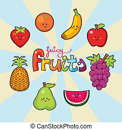 Happy Juicy fruits