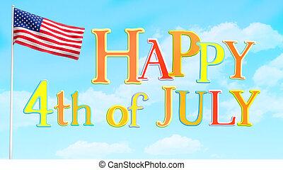 Happy July 4 Greeting