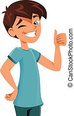Happy kid - happy kid gesturing ok sign