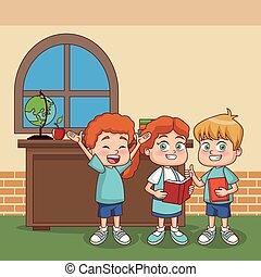 Kids at classroom