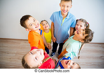 Happy kids circle