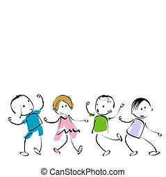 happy kids - group of happy kids