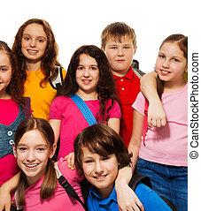 Happy kids from school
