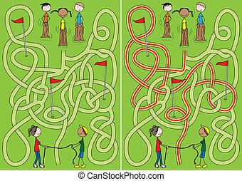Happy kids maze