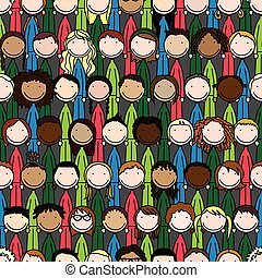 Happy kids pattern