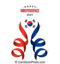 Happy Korea Republic Independence Day Vector Template Design Illustration