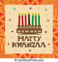 Happy Kwanzaa decorative greeting card. Eps10