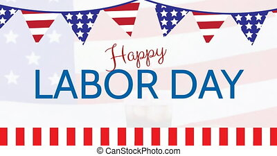 Happy Labor Day animation 4k