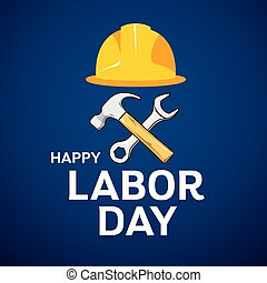 Happy Labor Day Architect cap, hammer, wrench design