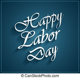 Happy Labor Day blue poster