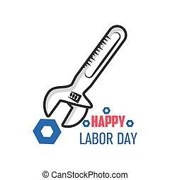 happy labor day celebration, wrench