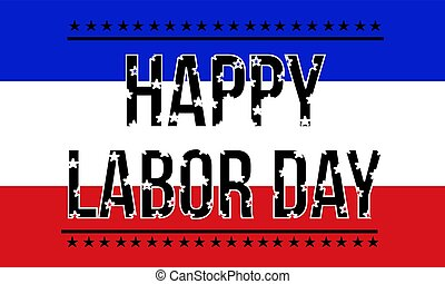 Happy labor day collection background
