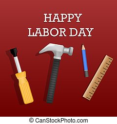 Happy labor day concept background, realistic style