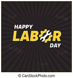 Happy labor Day Creative Typography on a Black Background