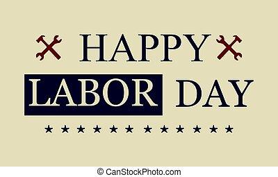 Happy labor day design style