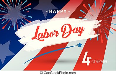 Happy Labor Day Greeting Card fireworks