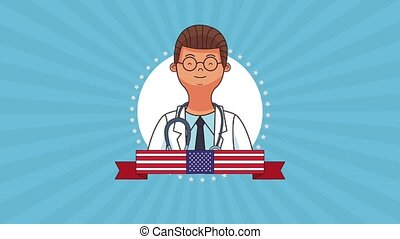 Happy labor day HD animation - Happy labor day and doctor...