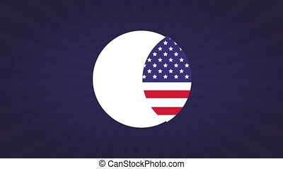 Happy labor day HD animation - Happy labor day and usa flag...
