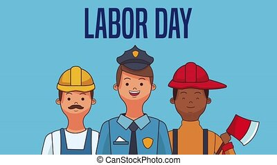 Happy labor day HD animation