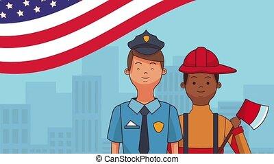 Happy labor day HD animation - Happy labor day police...