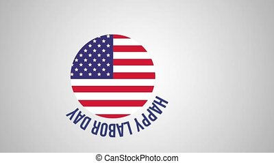 Happy labor day HD animation - Happy labor day USA flag...
