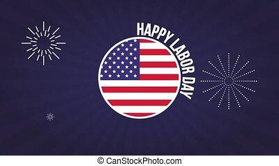 Happy labor day HD animation - Happy labor day usa flag...