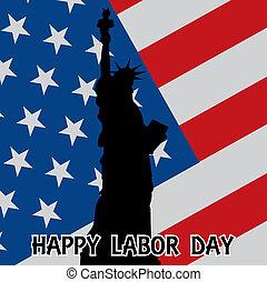 happy labor day - illustration
