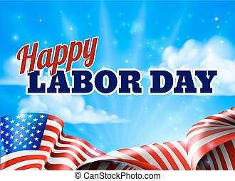 Happy Labor Day Poster - A Happy Labor Day design with an...