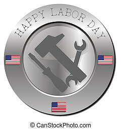 Happy labor day - Stamp with happy labor day