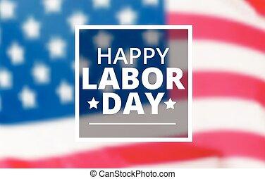 Happy labor day typography
