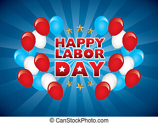 happy labor day over blue background vector illustration