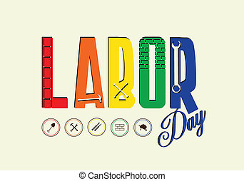 Happy Labor day, Vector illustration